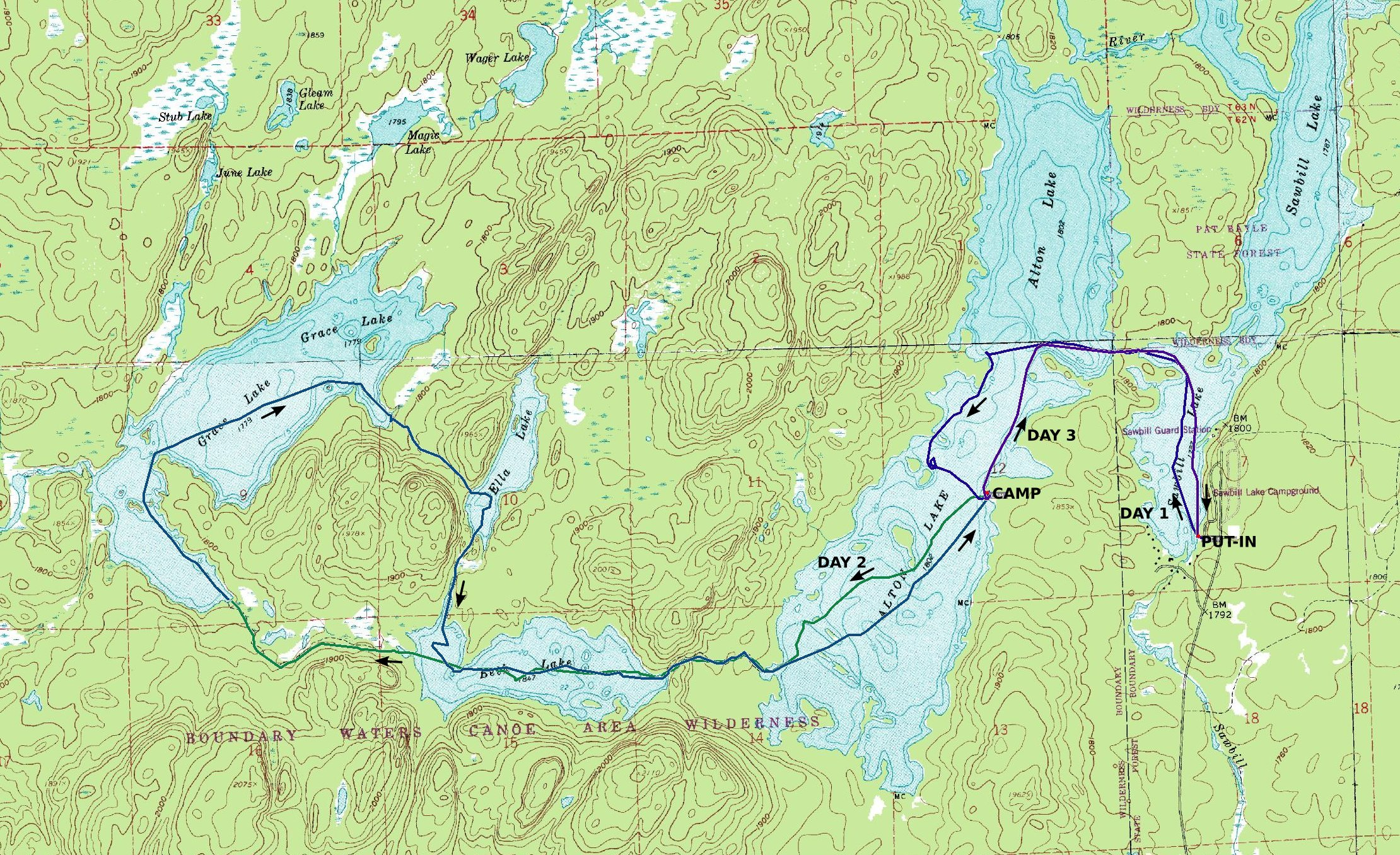 Boundary Waters Canoeing With The Center For Outdoor Adventure - Us map showing boundary waters minnesota
